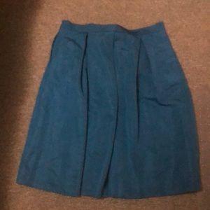 New York &Co teal skirt